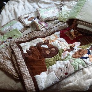10 piece barn yard friends crib set